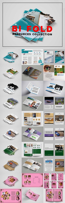Top 9 Bi-Fold Brochures PSD Templates Collection