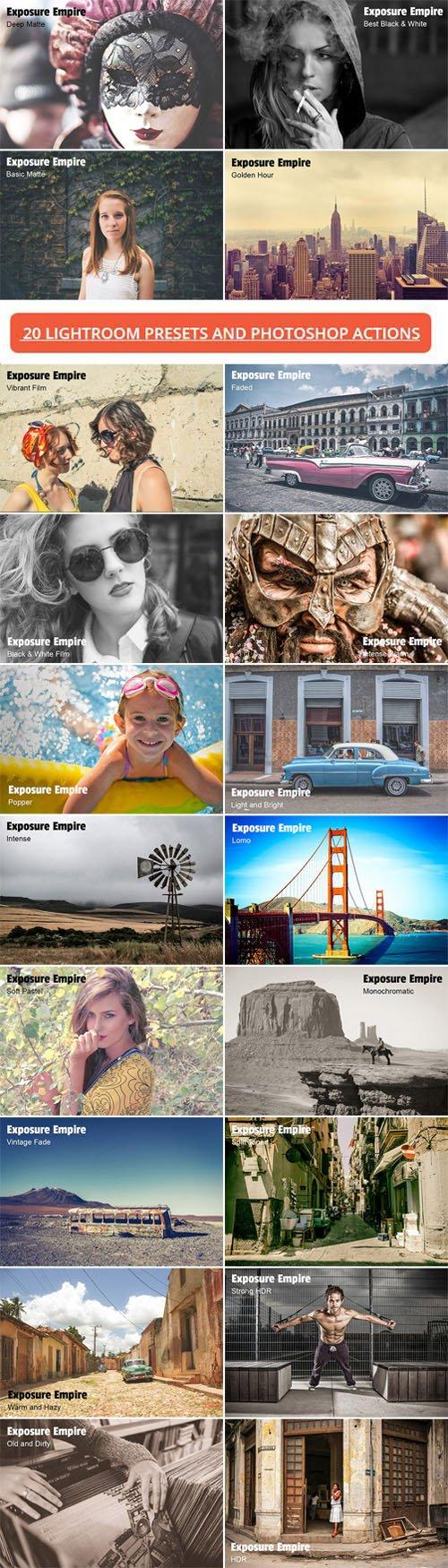 20 Photoshop Actions & Lightroom Presets