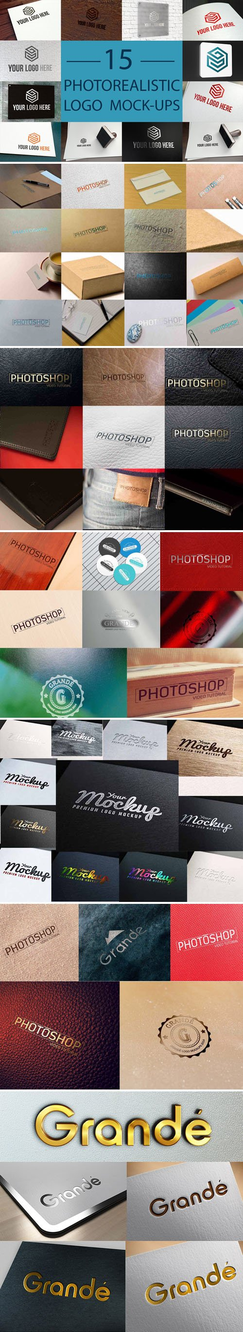 70 Awesome Logos PSD Mockups Collection