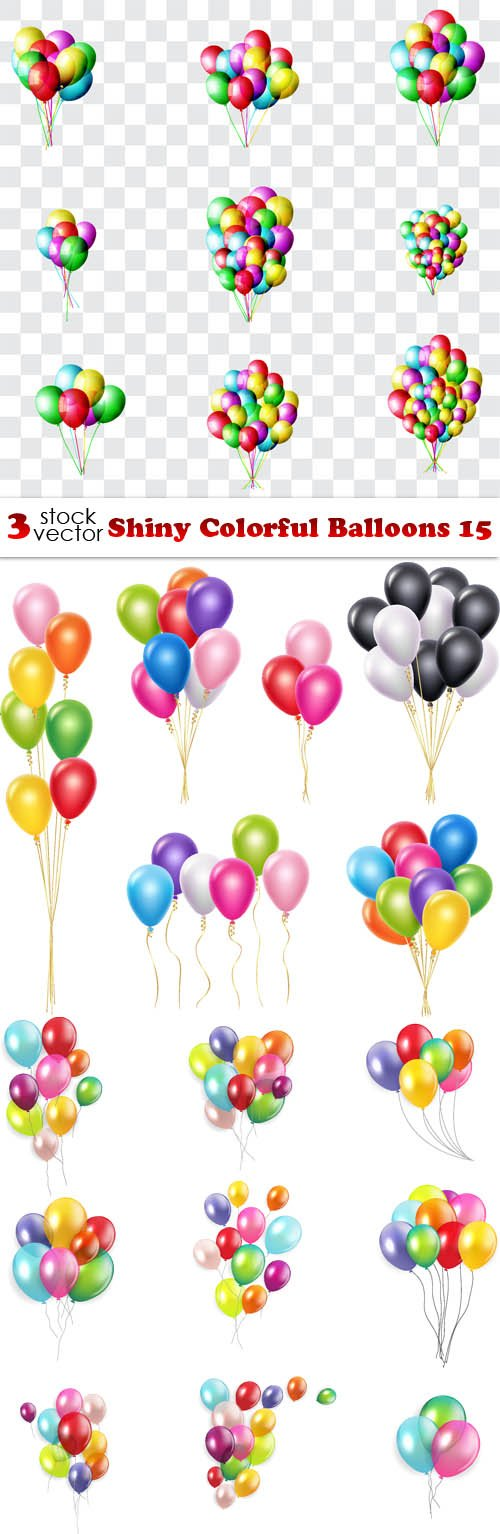 Vectors - Shiny Colorful Balloons 15