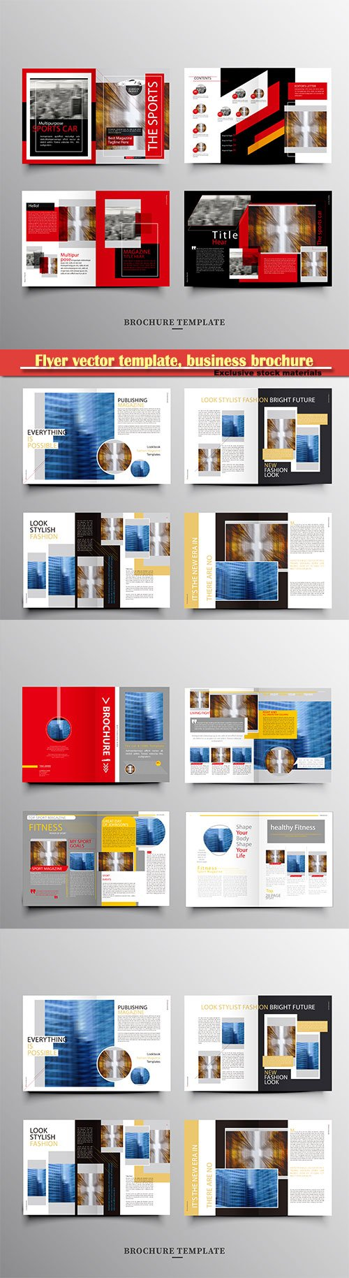 Flyer vector template, business brochure, magazine cover # 31