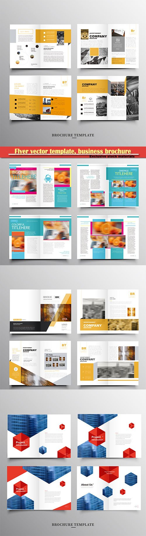 Flyer vector template, business brochure, magazine cover # 30