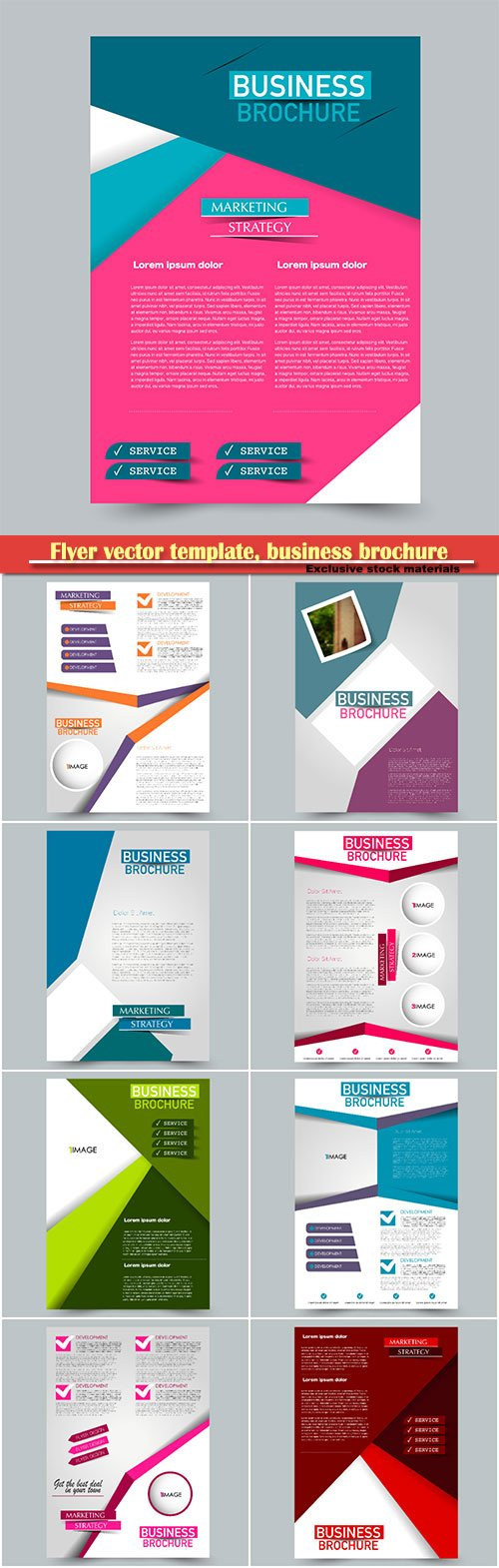 Flyer vector template, business brochure, magazine cover # 35