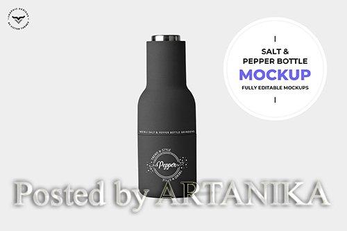 Salt and Pepper Bottle Mockup PSD
