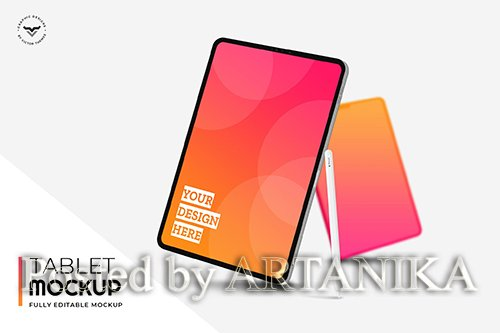 Tablet PSD Mockups - FC7TV7