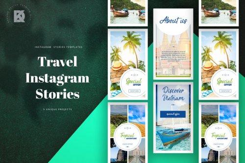 Travel Instagram Stories PSD