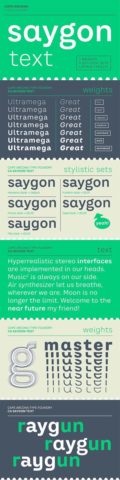 CA Saygon Text Font