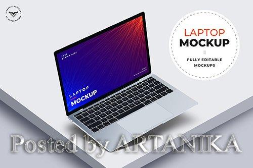 Laptop PSD Mockups - GTP5E3Y