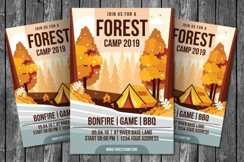 Forest Camp Flyer Template