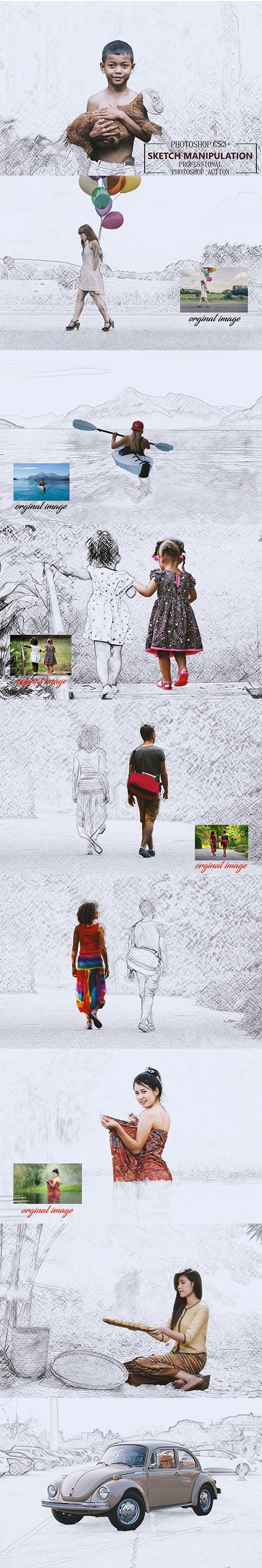 CreativeMarket - Sketch Manipulation Ps Action 3677184