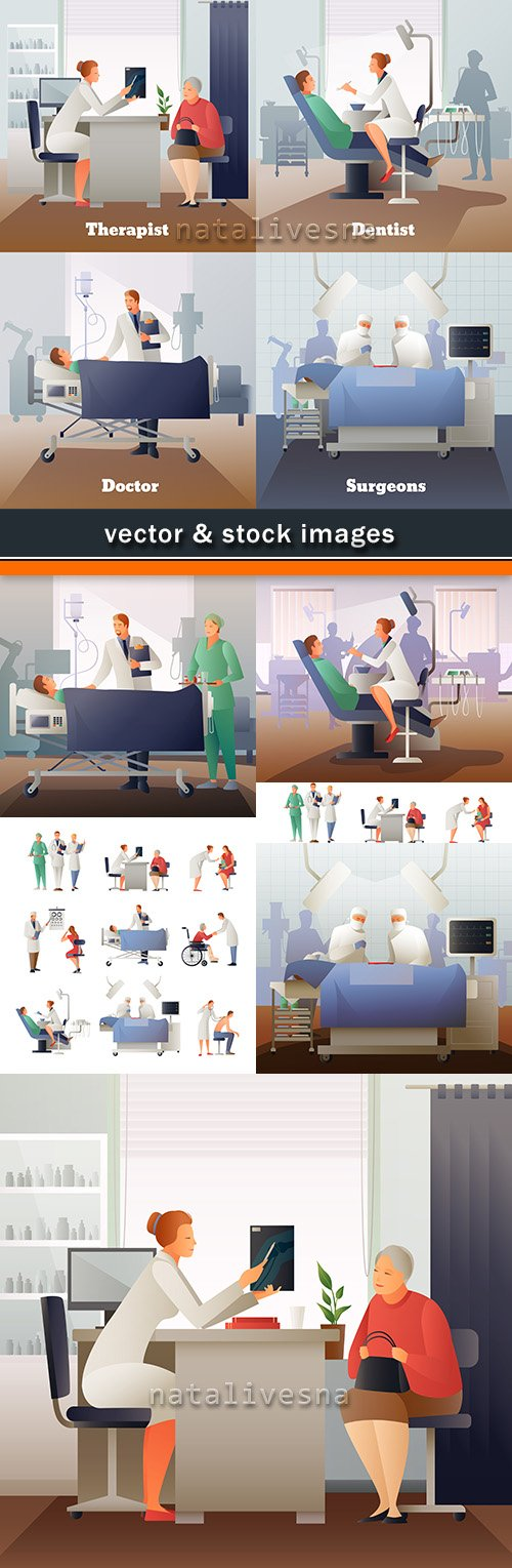 Professional doctor medical service diagnostic and medication 10