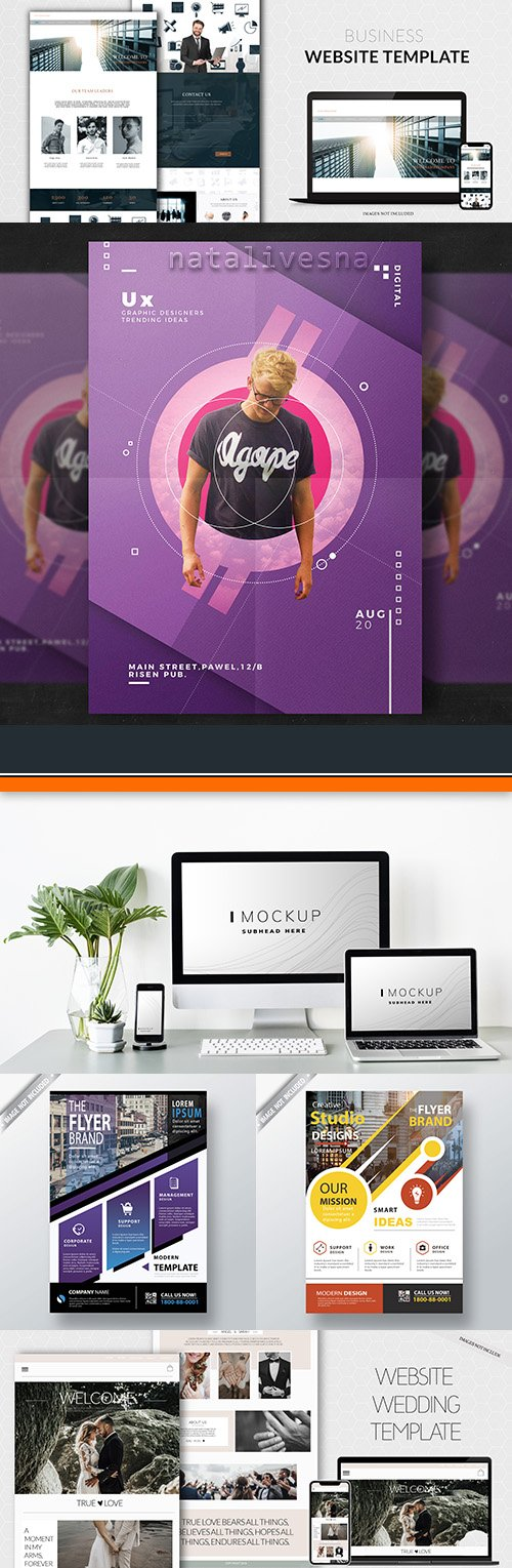 Business website and flyer Mockup Pack