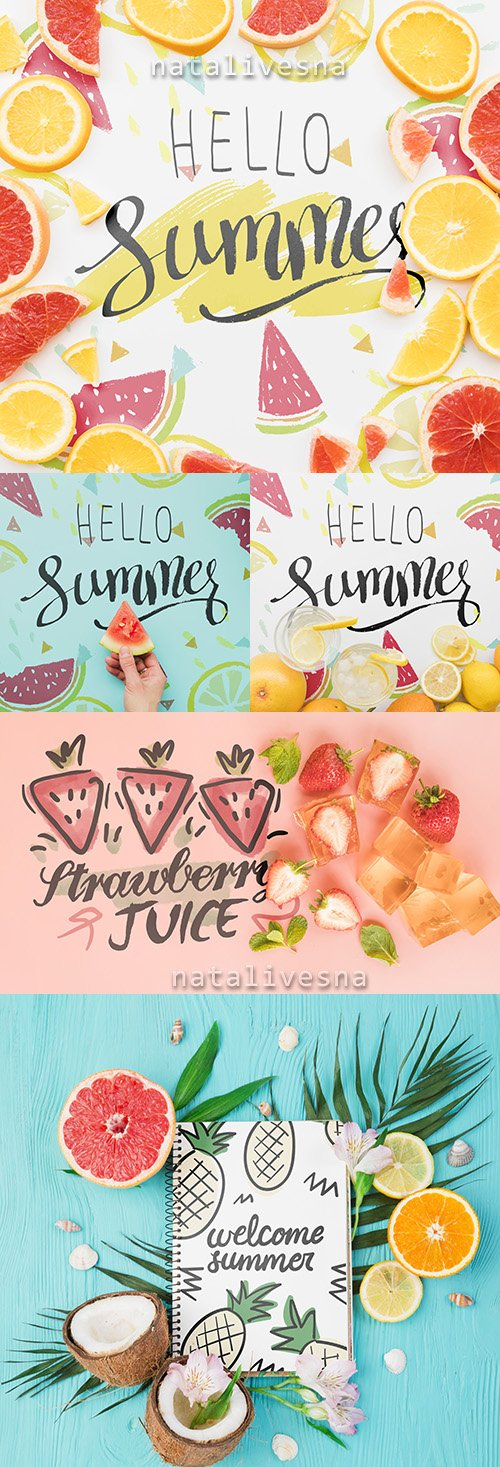 Hello Summer design Mockup Pack