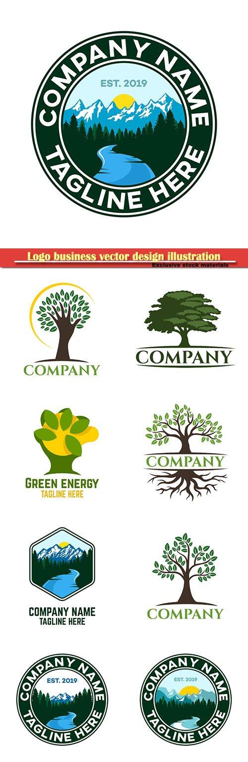 Logo business vector design illustration # 104
