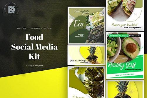 Food Social Media Pack PSD