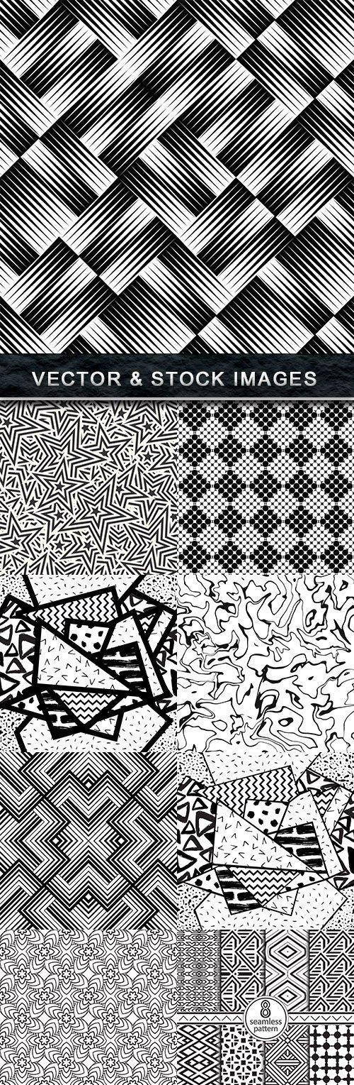 Modern geometric abstract pattern black wave design 25