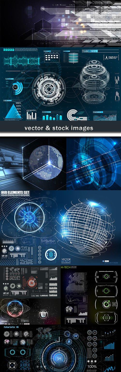 Technology system futuristic design background