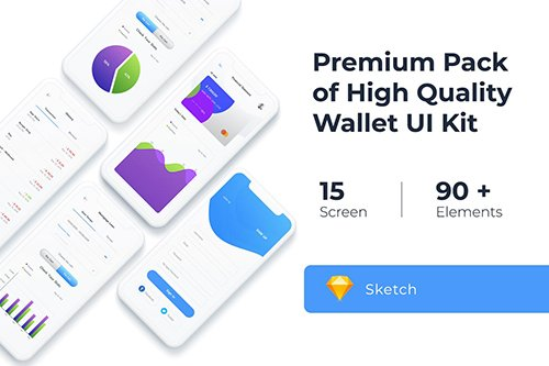 Wallet UI KIT for Photoshop, Sketch, Adobe XD