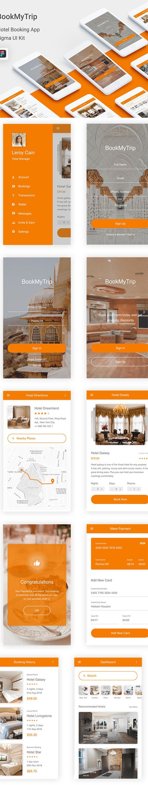 BookMyTrip - Hotel Booking UI Kit for FIG
