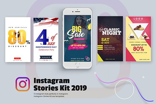 Creative Instagram Stories Kit 2019 PSD