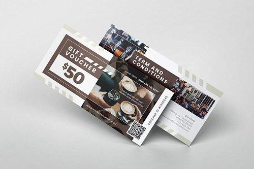 Coffeeshop Gift Voucher PSD