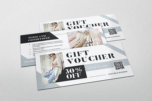 Fashion Boutique Gift Voucher PSD