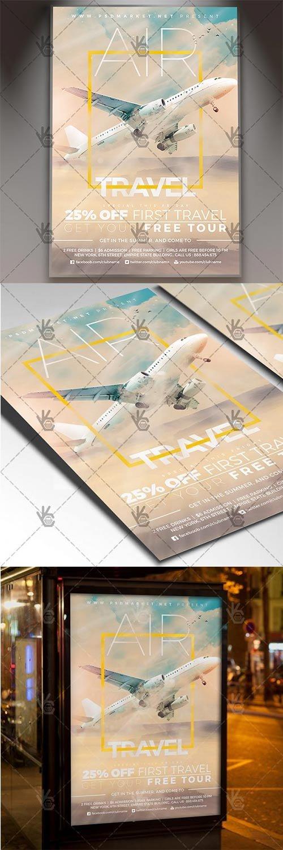 Air Travel - Seasonal Flyer PSD Template