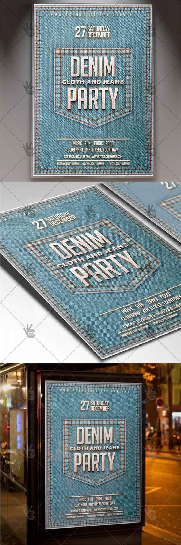 Denim Jeans Party - Club Flyer PSD Template