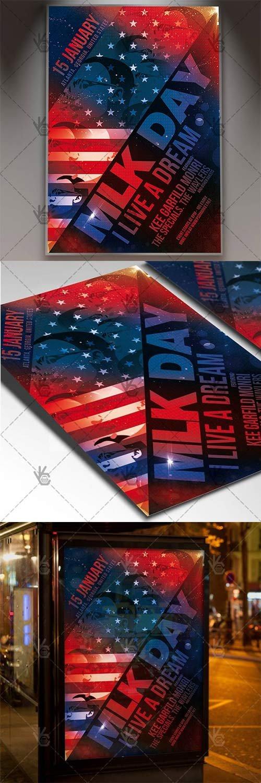 MLK Day - American Fl59yer PSD Template