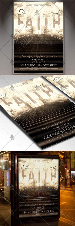 The Pathway of Faith - Church Flyer PSD Template