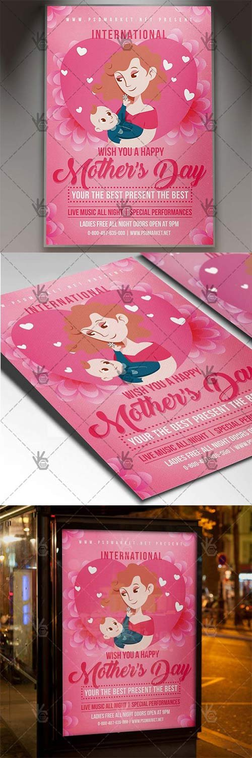 Mothers Day Flyer - Club PSD Template