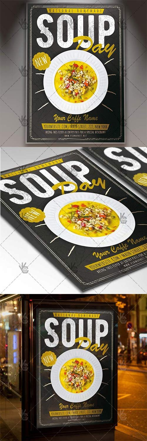Soup Day - Food Flyer PSD Template