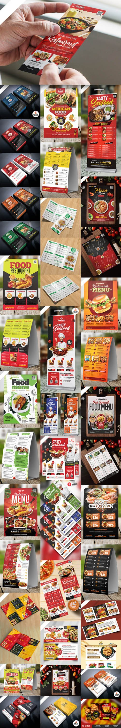 Huge Restaurant Food PSD Templates Collection