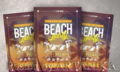 CM - Beach Party Flyer 2104817