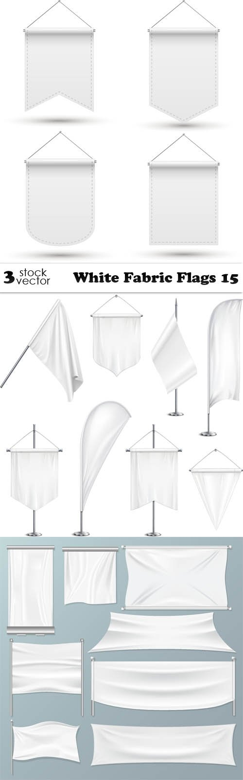Vectors - White Fabric Flags 15