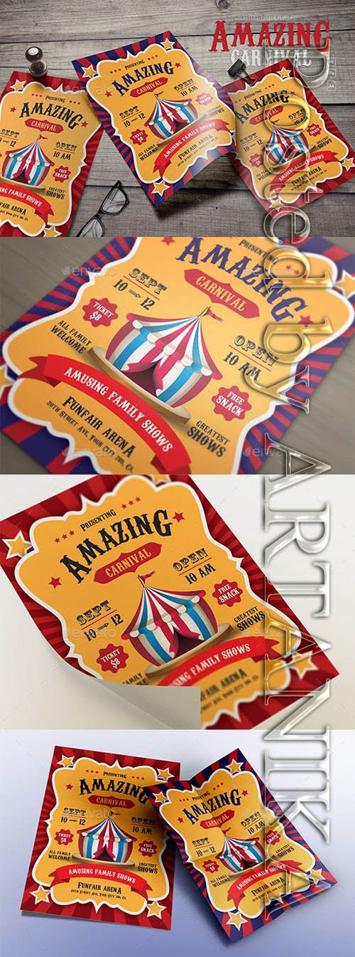 Graphicriver - Amazing Carnival Flyers 20805188