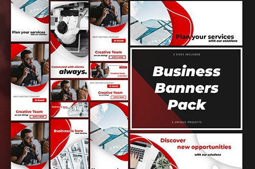 Business Banners Pack PSD Templates