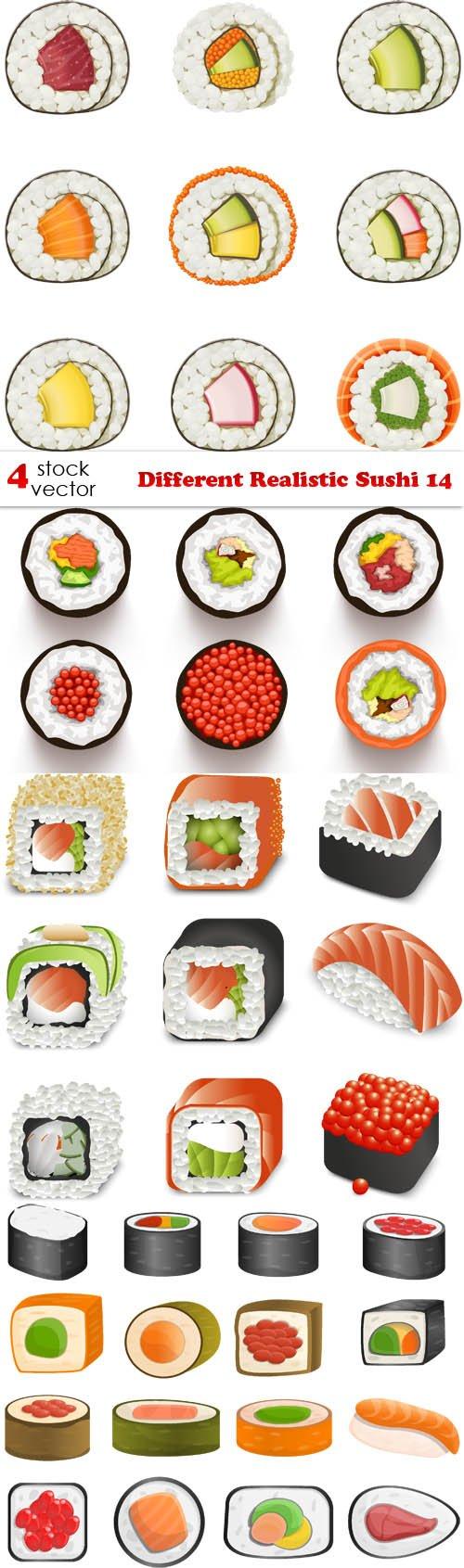 Vectors - Different Realistic Sushi 14