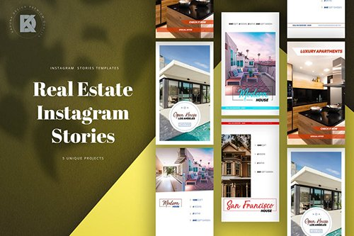 Real Estate Instagram Stories PSD Template