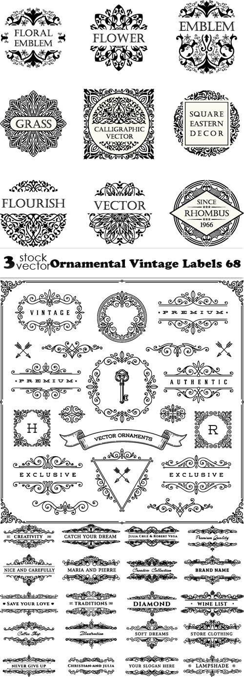 Vectors - Ornamental Vintage Labels 68
