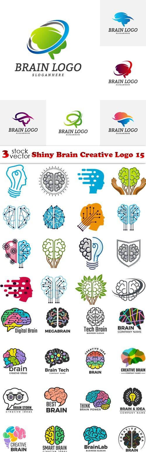 Vectors - Shiny Brain Creative Logo 15