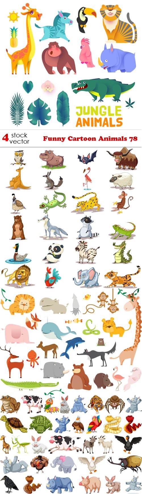 Vectors - Funny Cartoon Animals 78