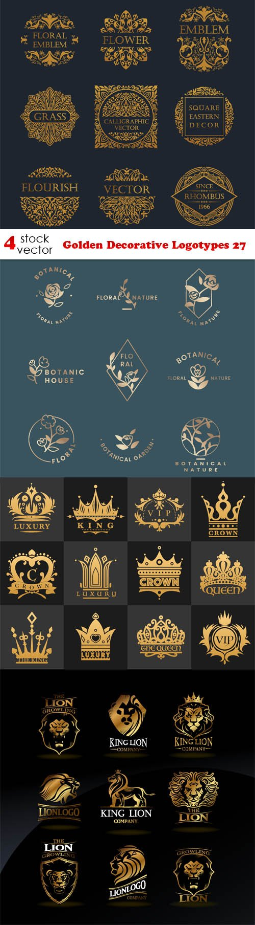 Vectors - Golden Decorative Logotypes 27