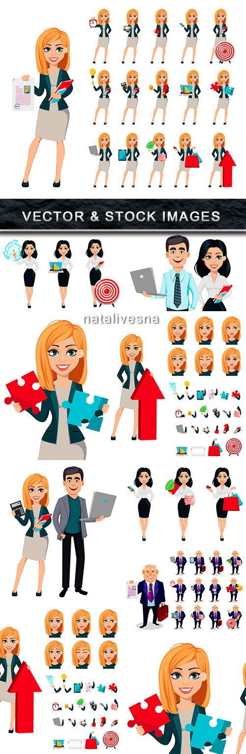 Business people professional head and manager concept