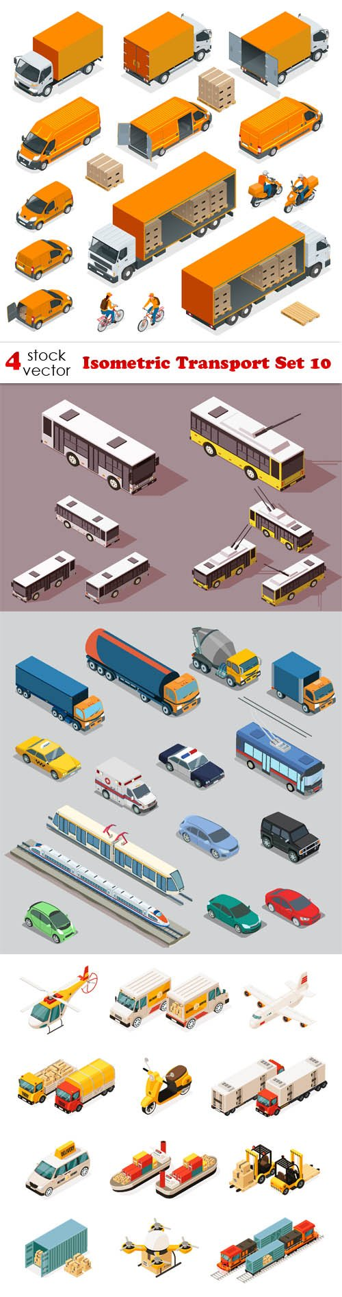 Vectors - Isometric Transport Set 10