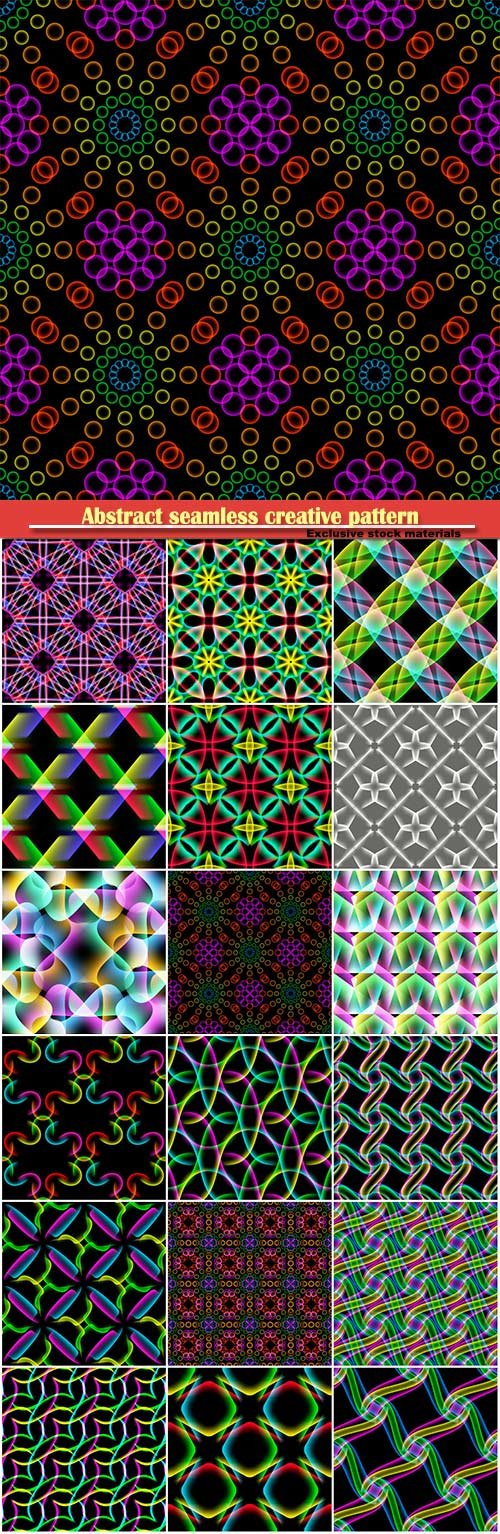 Abstract seamless creative pattern, vector background