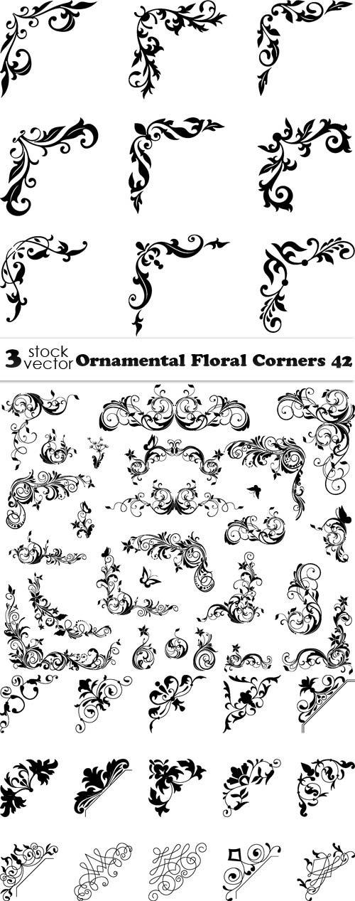 Vectors - Ornamental Floral Corners 42