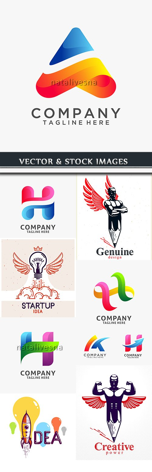 Creative logos corporate business company design 17