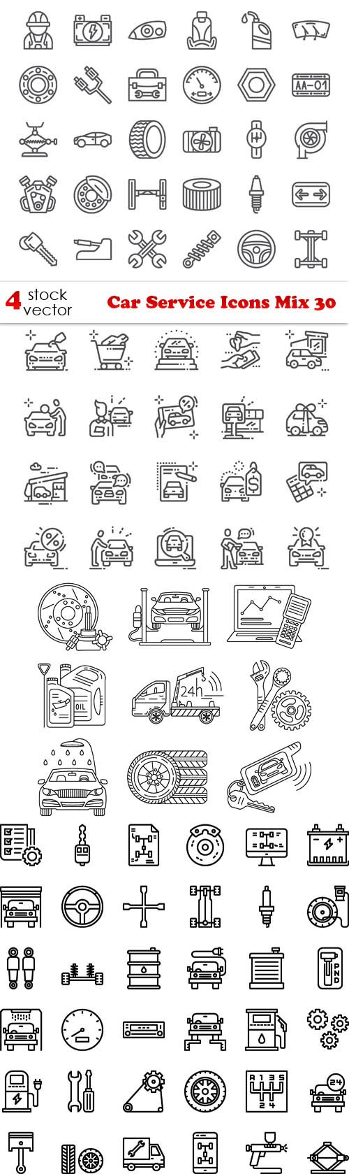 Vectors - Car Service Icons Mix 30