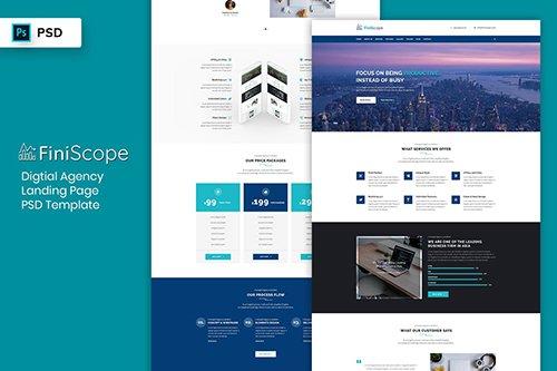 Landing Page PSD - Digital Agency